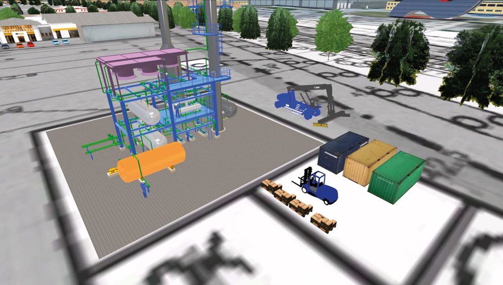 Straßen, Wege und Flächen müssen immer verknüpft mit der technischen Struktur der jeweiligen Anlagen gesehen werden. Bild: Cosmo Consult AG