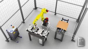 Ein erheblicher Mehrwert der Simulation ergibt sich daraus, wenn das in der Simulation erstellte Roboterprogramm für den reellen Roboter nachgenutzt werden kann.  Bild: Dualis GmbH IT Solution
