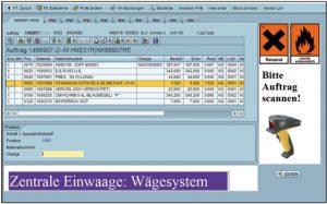 Integration von Waagen und mobilen Scannern