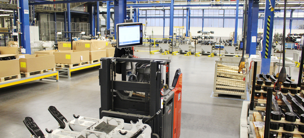 Großes Display: An den Ameisen gibt es ausreichend Platz für die Montage der SH15-Terminals. (Bild: BPW Bergische Achsen KG)