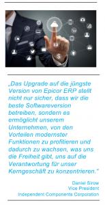 Epicor hat mit dem j?ngsten ERP-Release Werkzeuge vorgestellt, um Systemupdates und Datenmigrationen zu erleichtern. (Bild: Epicor Software Deutschland GmbH)