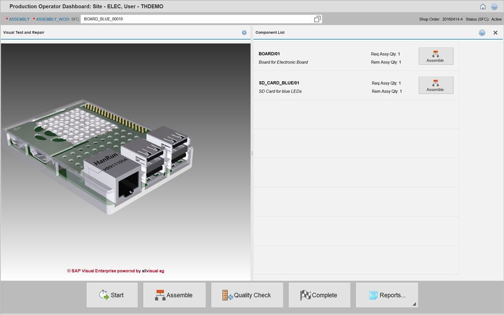 Mit Visual Enterprise bietet sich in der SAP-Anwendung die Möglichkeit, 3D-Modelle über HTML5 direkt im Montagebildschirm abzubilden. (Bild: Trebing & Himstedt Prozeßautomation GmbH & Co. KG)