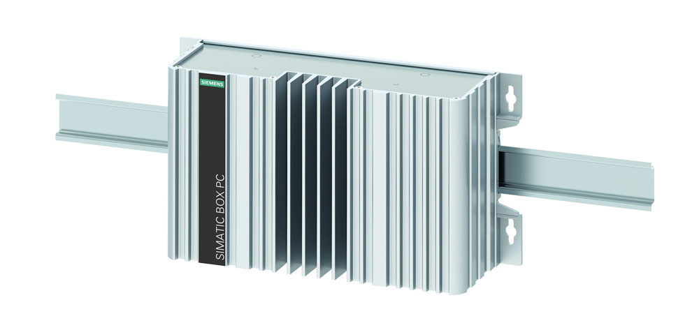Der Box-PC Simatic IPC 327E lässt sich auf Hutschienen in Schaltschränken und an Wänden oder anderen senkrechten Flächen montieren. (Bild: Siemens AG)