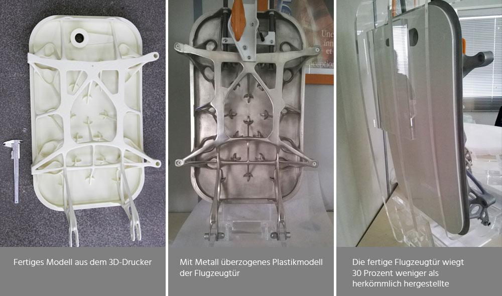 Additive Fertigung einer Flugzeugtür durch Kombination von altbewährtem Feinguss und Modellen aus dem 3D-Drucker