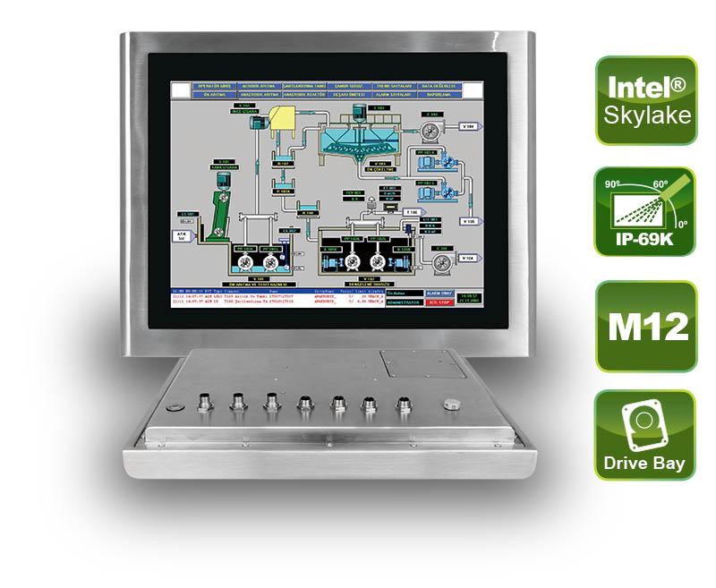 Edelstahl Panel-PC mit IP69K-Schutz