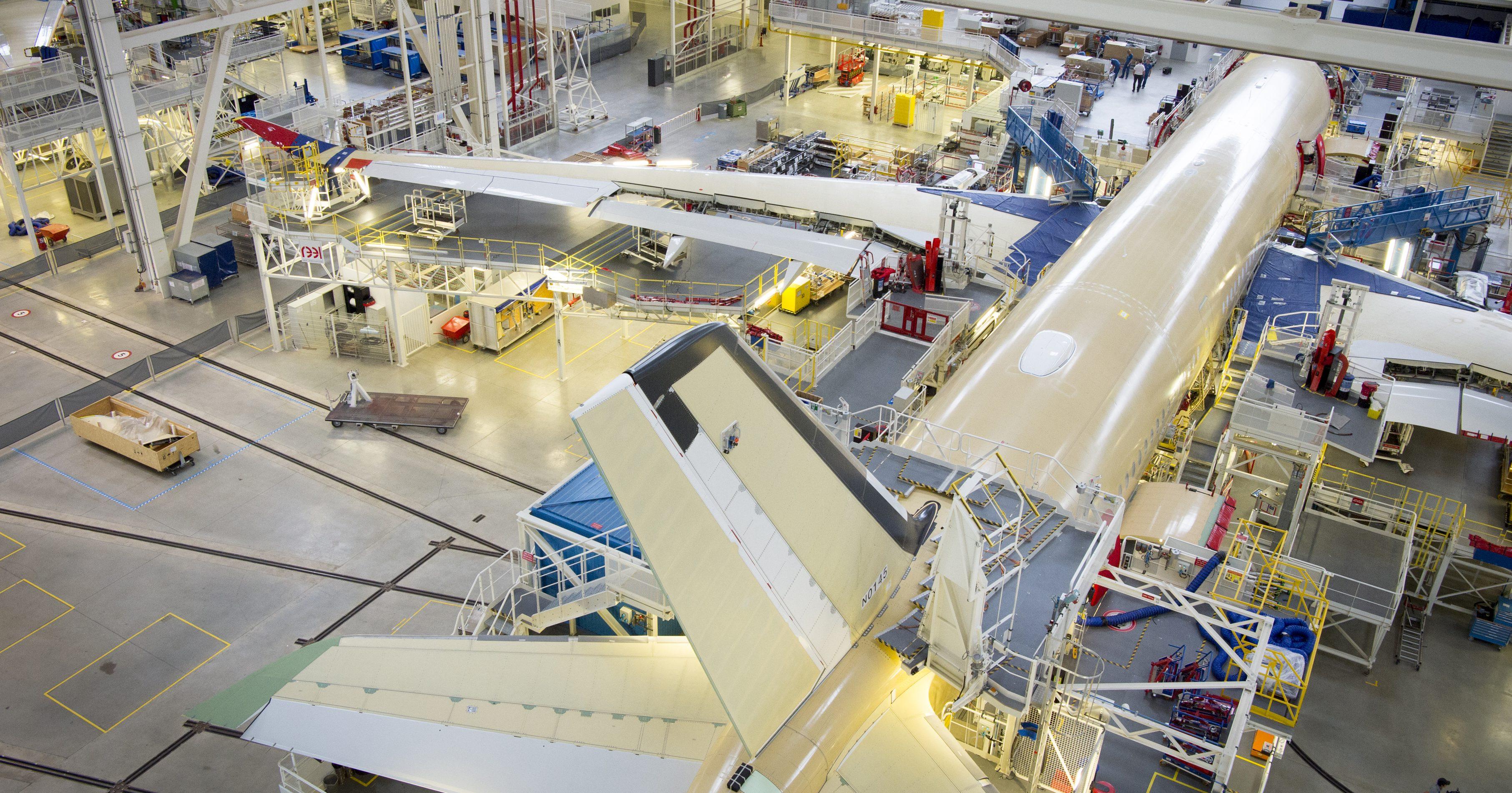 Flugzeugmontage einer Airbus