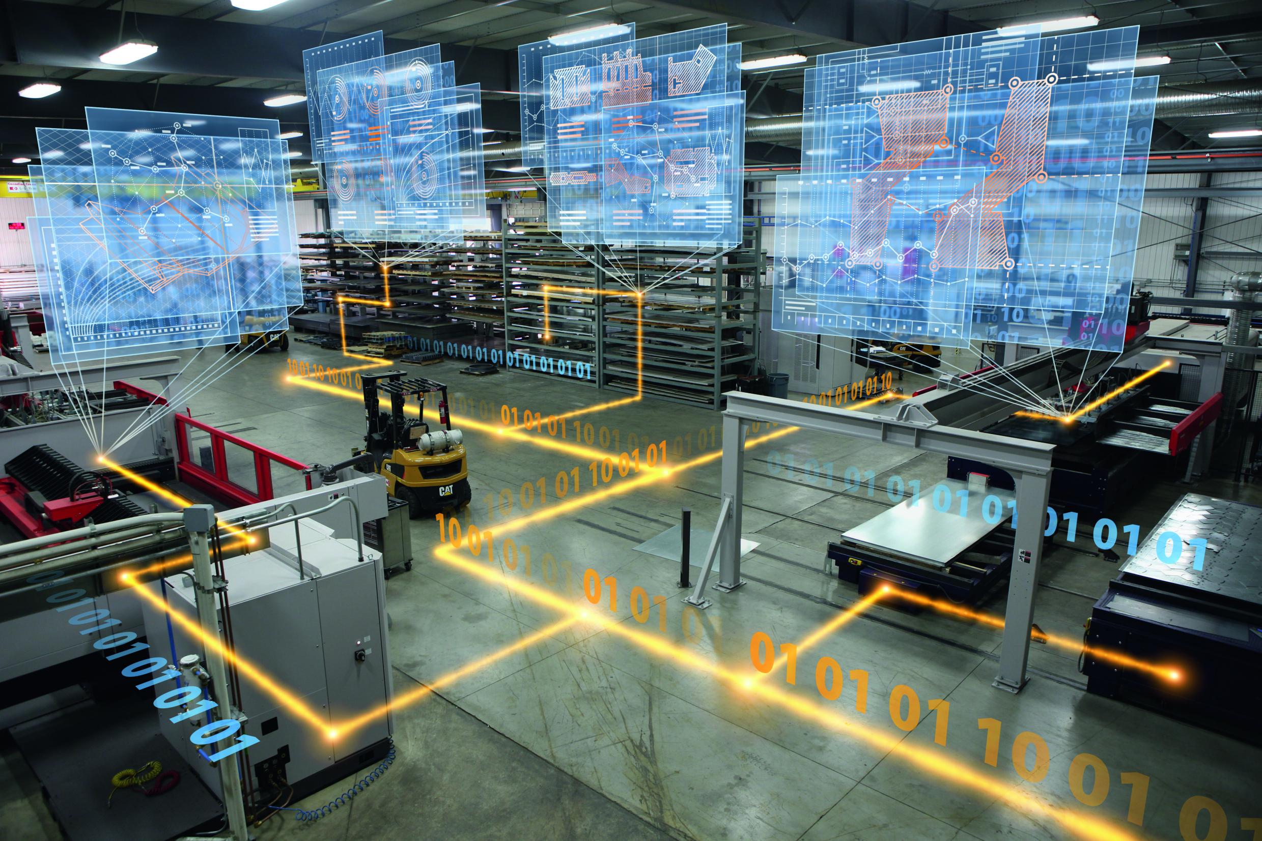 Mit dem MES von Bystronic für Blechfertiger können Anwender ihre Produktion vom Auftragseingang bis hin zum fertigen Produkt planen und steuern . (Bild: Armin Schieb / Sepia)