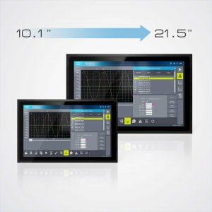 Die Multitouch-HMIs kommen in f?nf verschiedenen Displaygr??en von 10,1 bis zu 21,5 Zoll. (Bild: Sigmatek GmbH & Co KG)