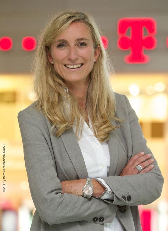Portrait Anette Bronder, Geschäftsführung der T-Systems International GmbH, Digital Division und Telekom Security