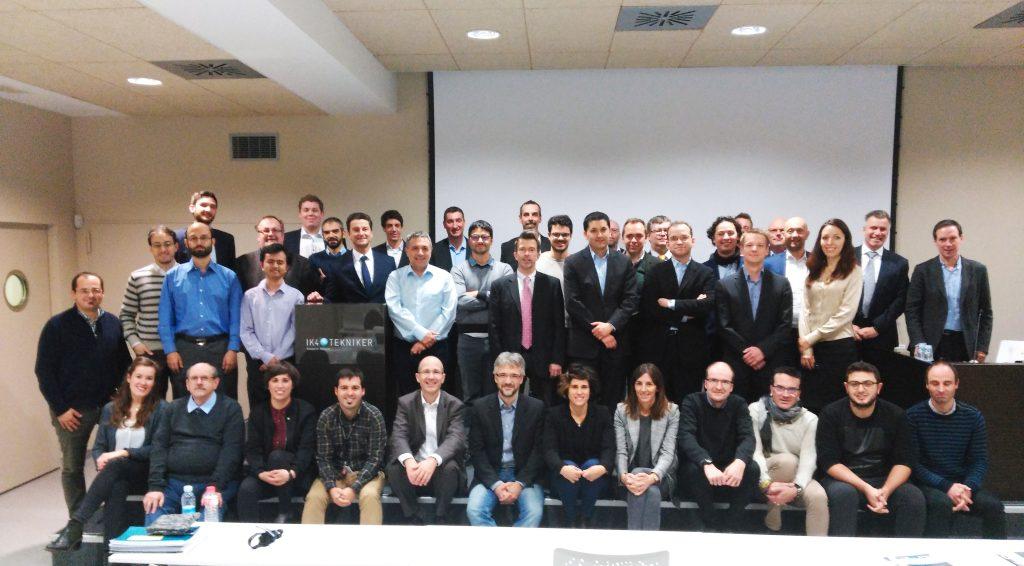 FourByThree-Konsortium und EU-Gutachter beim finalen Review-Meeting in Eibar, Spanien, am 30.11.2017. (Bild: Intelligenz (DFKI) Deutsches Forschungszentrum für Künstl.)