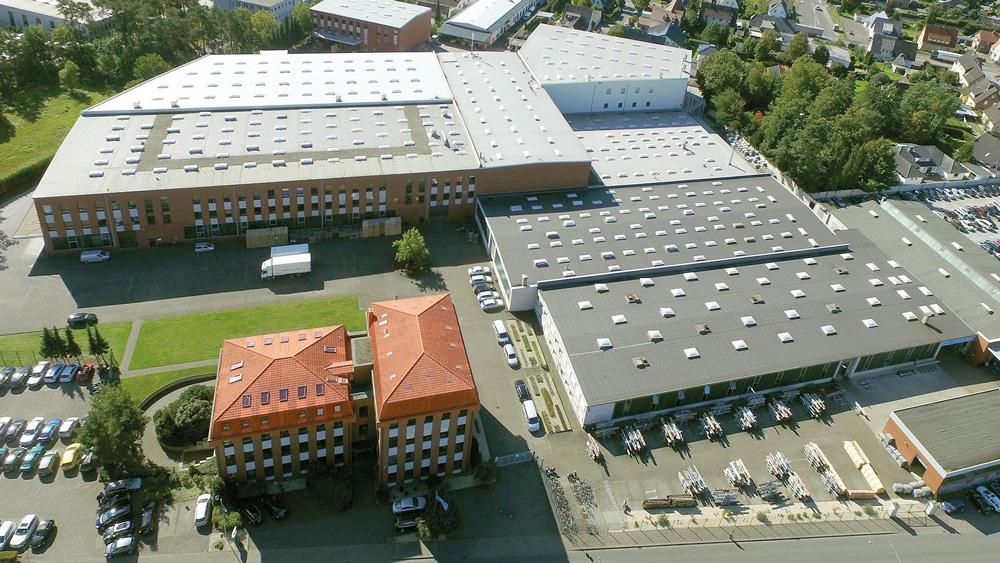Zu sehen ist der ARI-Armaturen Produktionsstandort Schloß Holte-Stukenbrock