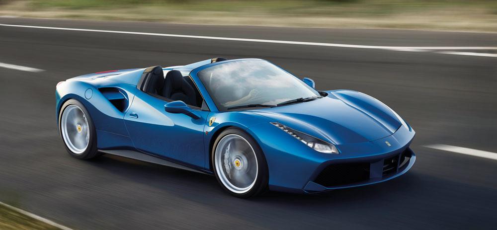 Bild eines blauen Ferrari's
