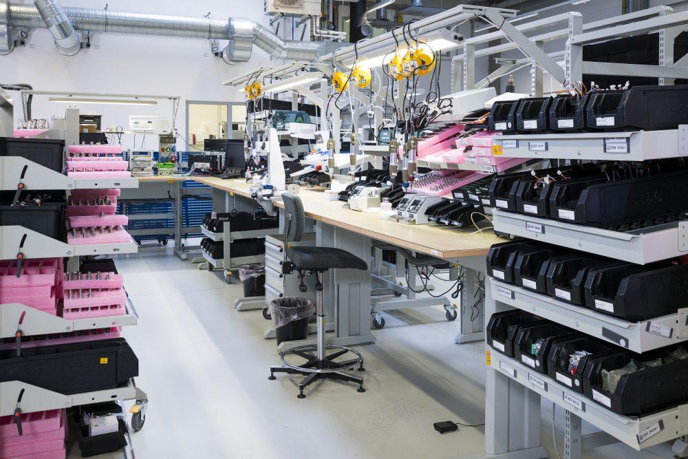 Neubau - Einblick in die Produktionsstätte der Lenord+Bauer & Co GmbH