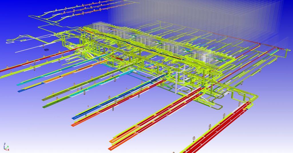 Darstellung des Durchsatzes in einem Behälterfördersystem in Simpath. (Bild: Simplan AG)