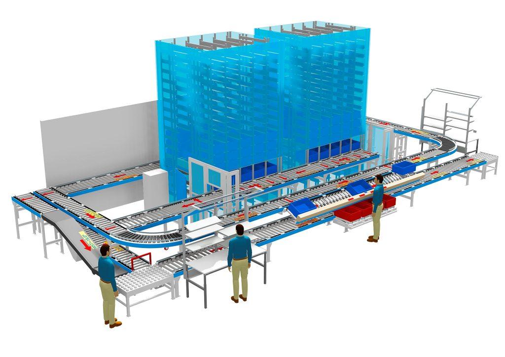 Das System Flexpick+ ist durch seinen modularen Aufbau meist problemlos erweiterbar. Mehr erfahren Besucher der Logimat in Halle 5, Stand A65. (Bild: Wegener+Stapel Fördertechnik GmbH)