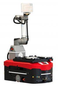 Die neue mobile Roboterlösung MR10S ist für die Mensch-Maschine-Kooperation ausgelegt. (Bild: Grenzebach Maschinenbau GmbH)
