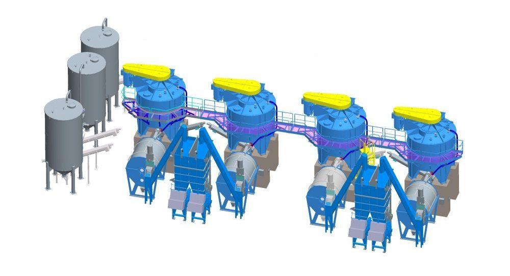 3D-Modell einer Müllentsorgungsstation