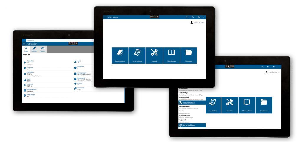 Die Anwendung zeigt zum Beispiel Aufträge, Meldungen und Checklisten an. (Bild: Membrain GmbH)