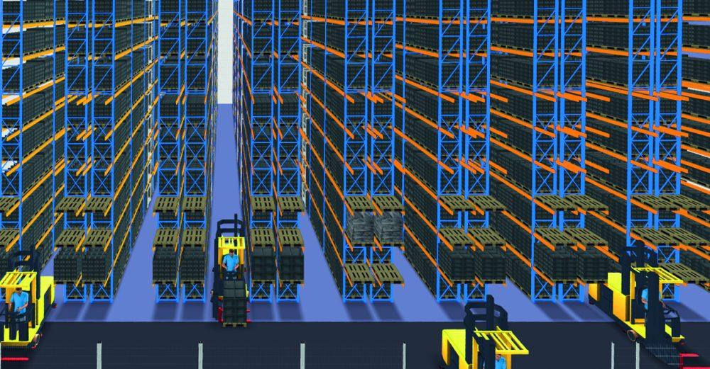 Mit ihrer Software zur Lagerauslegung kann das Kompetenzzentrum Fabrikplanung schnell verschiedene Lösungsvarianten eines Lagers erstellen.