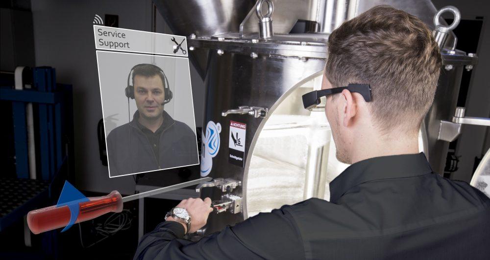 Forschungsprojekt Across - Mit Augmented Reality-Technik können Spezialisten ihr Fachwissen einsetzen ohne vor Ort zu sein.