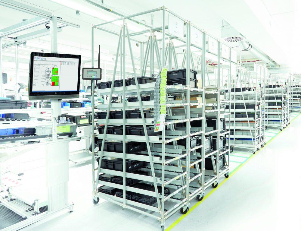 Teileversorgung | Durchlaufregal | IT-gestützt | Fertigungsnahe IT | Stocksaver