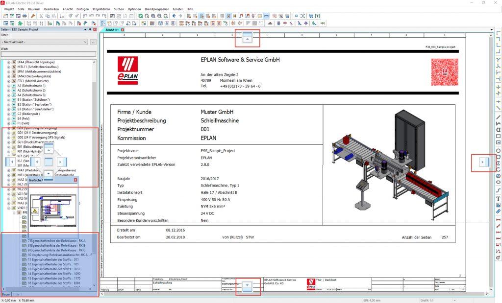 Mit Flyouts lässt sich mehr vom Schaltplan selbst auf dem schirm anzeigen. (Bild: Eplan Software & Service GmbH & Co. KG)