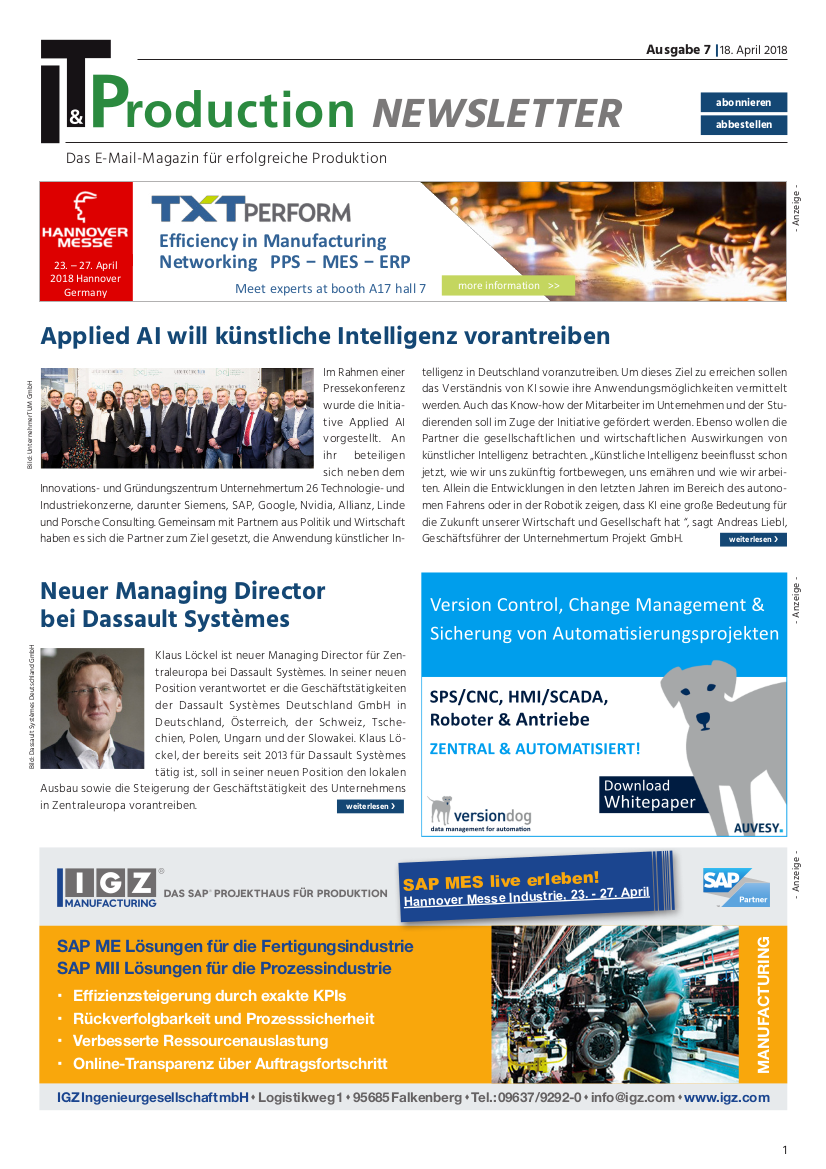 ITProduction_Newsletter_VII 2018