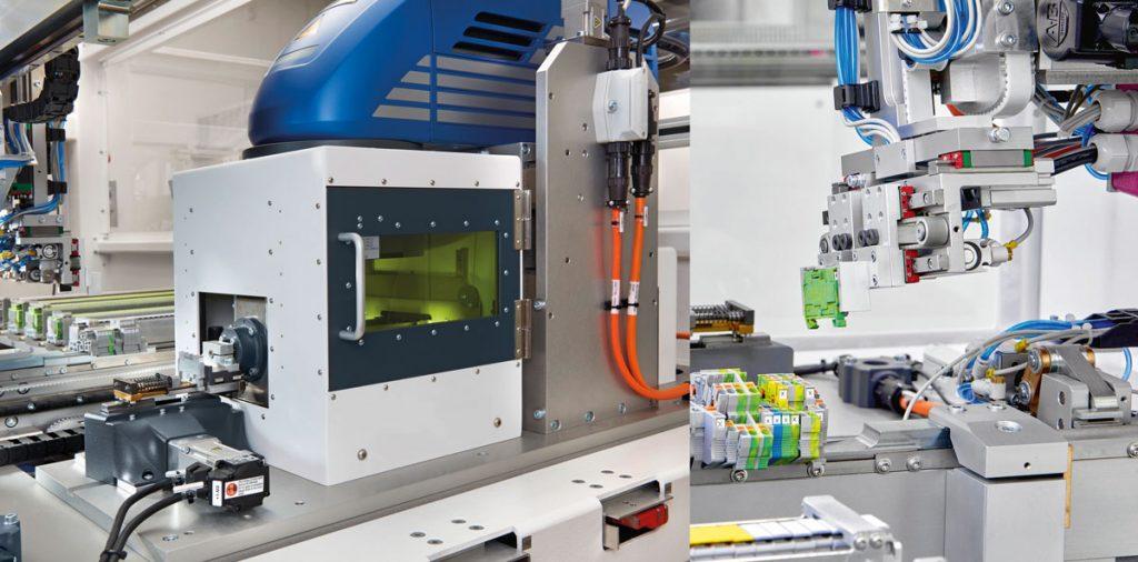 Bild zeigt einen Schaltschrank der nach dem CLX-Konzept, der Phoenix Contact Deutschland GmbH, gefertigt wird