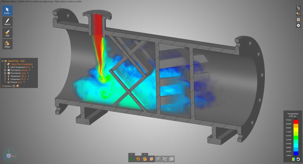 Die Ingenieure nutzen die Möglichkeiten der Simulation, um Tausende von möglichen Entwürfen zu analysieren, bis der bestmögliche Entwurf identifiziert wurde.