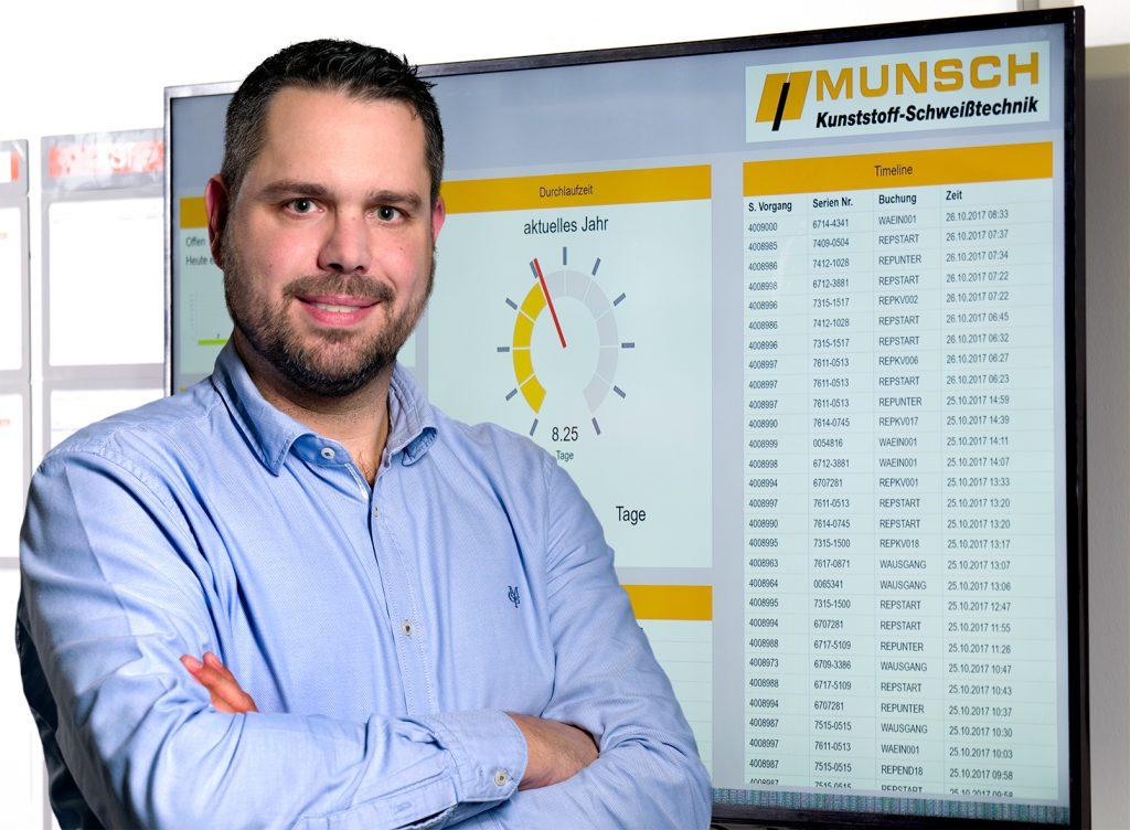 Oliver Herz, Leiter der Anwendungsentwicklung, Munsch-Unternehmergruppe