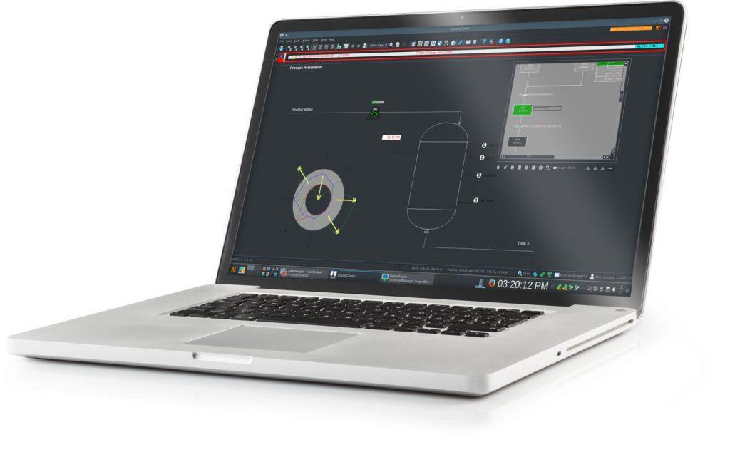 Der Anlagenstatus lässt sich in der neuen Dark Style-Optik inklusive Spinnendiagramm darstellen. (Bild: B&R Industrie-Elektronik GmbH)