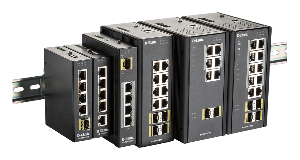 Ethernet Switches - Der taiwanesische Hardware-Hersteller D-Link hat seit kurzem eine Modellreihe von industrietauglichen Ethernet-Switches im Programm.