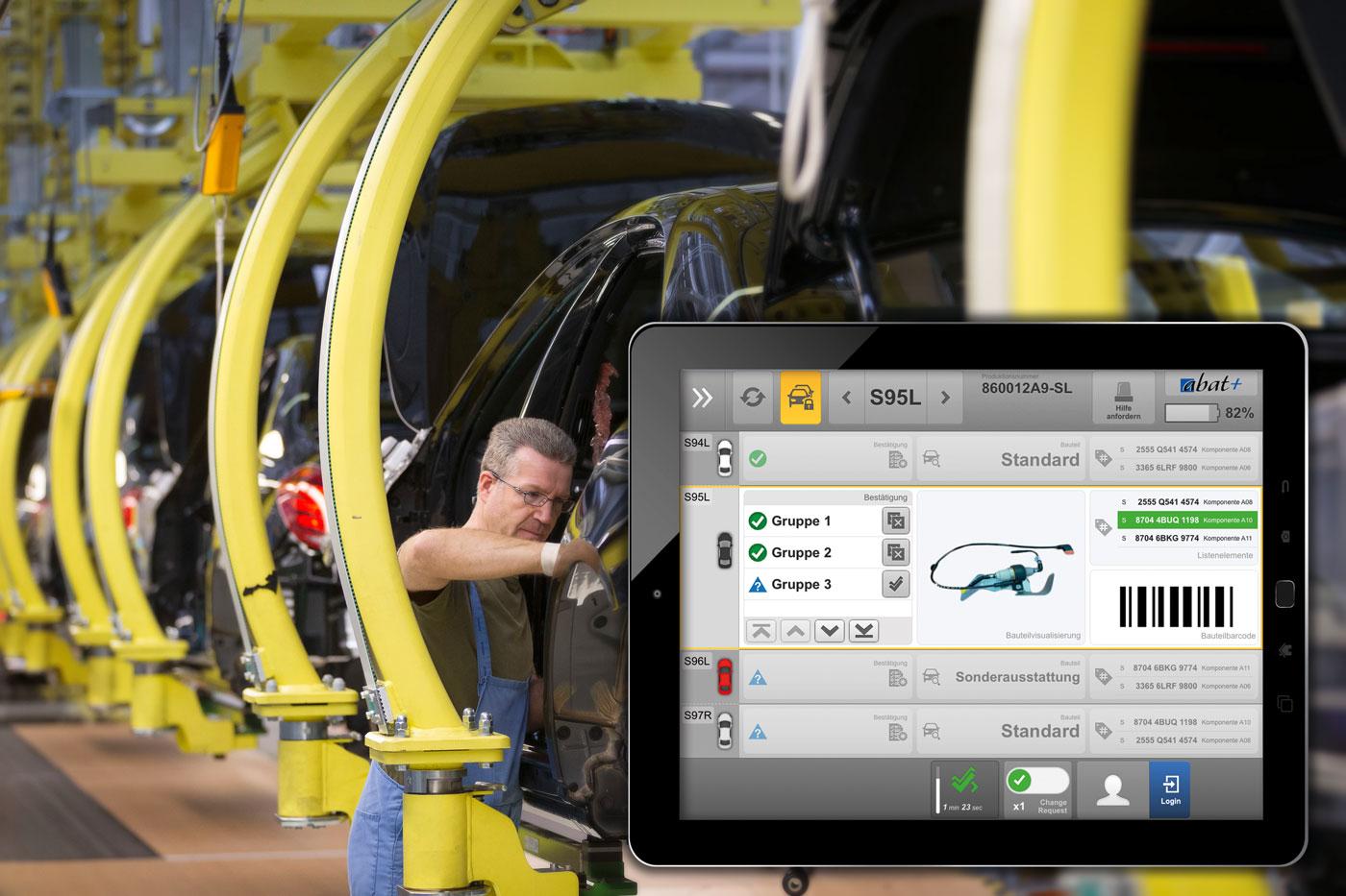 Papierlos im Mercedes-Benz-Werk
