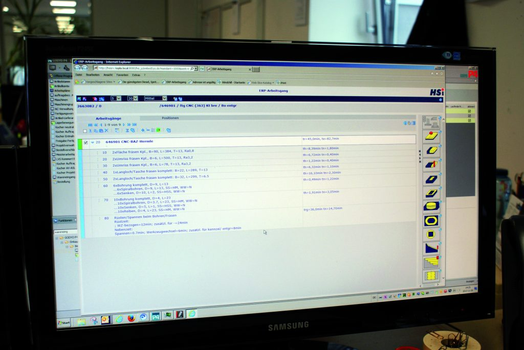 Eingebettete HSi-Planzeitermittlung im ERP-System GODYO P4 (Bild: give4pr)