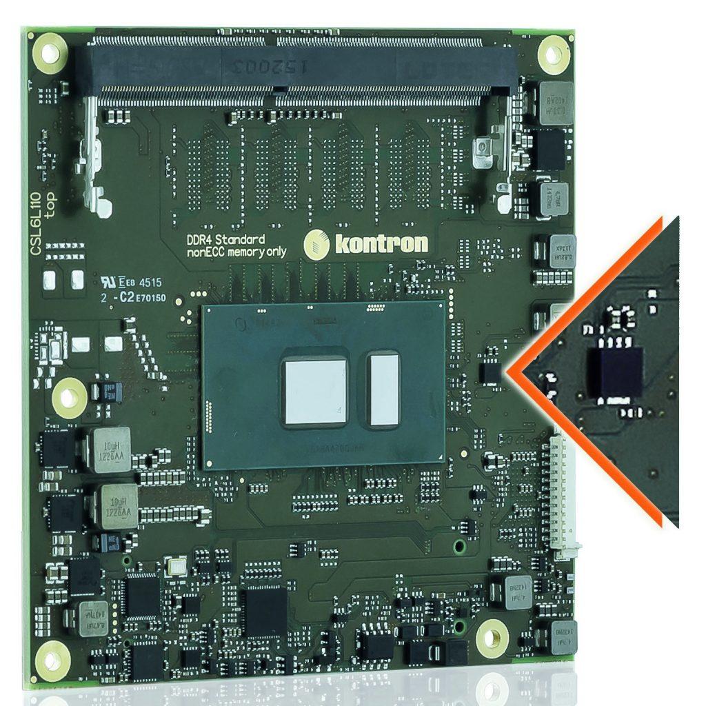 IoT-Security serienmäßig: Das COMe-cSL6 unterstützt mit einem integrierten Security Chip die Embedded Security Solution von Kontron. (Bild: Kontron Europe GmbH)