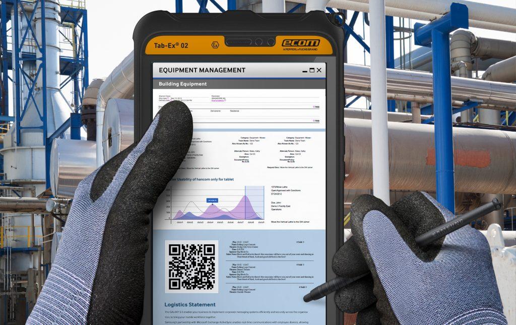 Nahtloses Asset Management mit den eigensicheren Tablets Ecom Tab-Ex 02