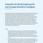 Eckpunkte zur KI-Strategie der Bundesregierung