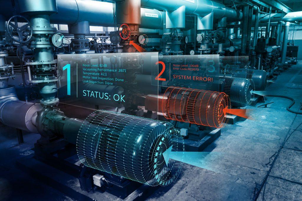 Vakuum-Pumpenhersteller Leybold: Augmented Reality fürInstandhalter | Maschinenmonitoring mit Augmented Reality.