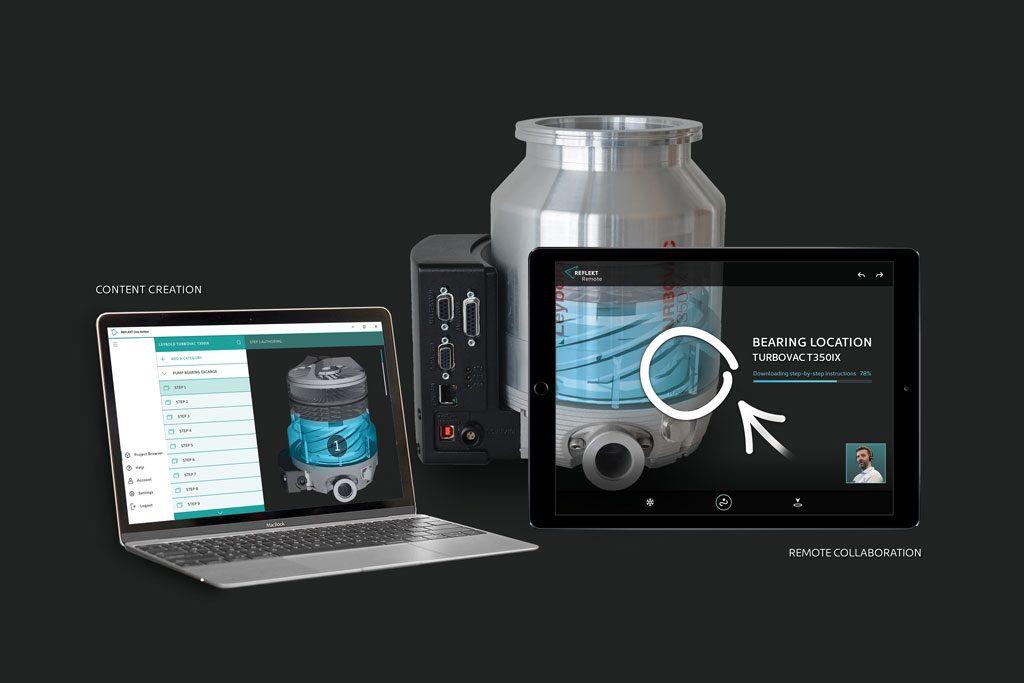 Vakuum-Pumpenhersteller Leybold: Augmented Reality fürInstandhalter | Kunden des Pumpenherstellers werden mittels einer Augmented-Reality-Anwendung durch den Instandhaltungsprozess geleitet.