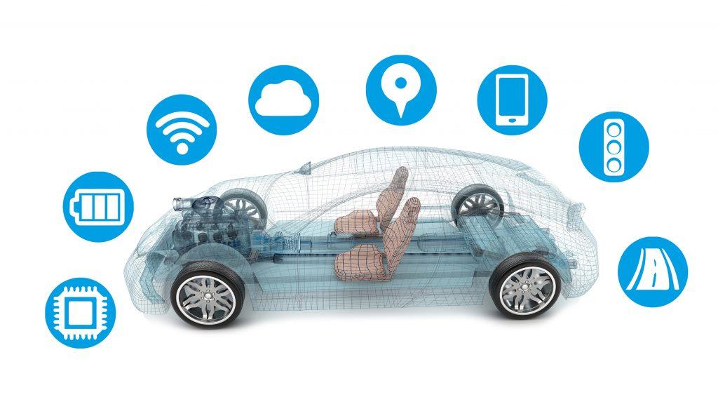 Die Vision künftiger Mobilität basiert auf der digitalen Vernetzung im und um das Fahrzeug herum. (Bild: Laird Technologies)
