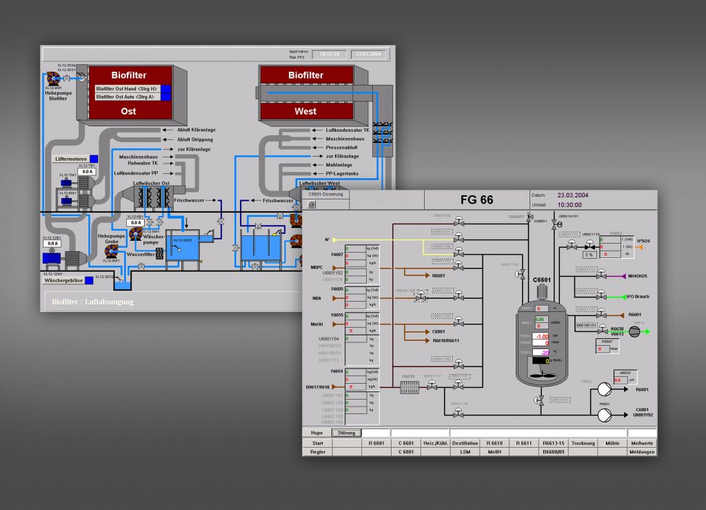 Detailgenaue Visualisierungen ähnlich einer Scada-Anwendung. (Bild: Gefasoft GmbH)