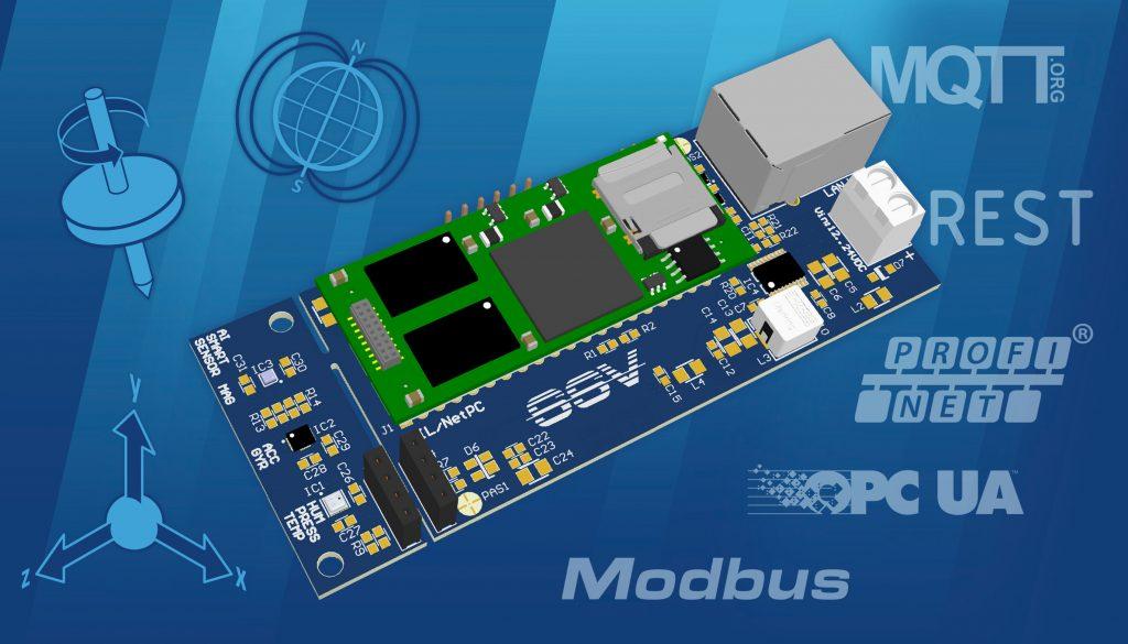 SSV stellt auf der SPS IPC Drives 2018 ein Evaluierungsboard samt Sensoren, Embedded System, Connectivity und AI-Software vor. (Bild: SSV Software Systems GmbH)