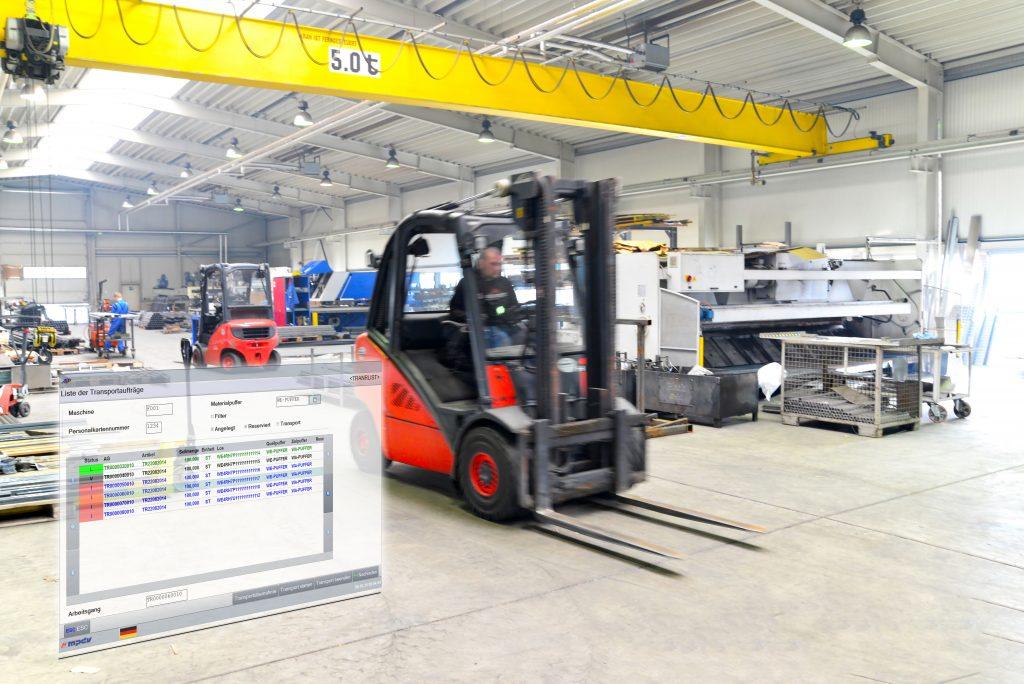 Die Vernetzung von Produktion und Logistik bietet viel Raum für Verbesserungen. (Bild: MPDV Mikrolab GmbH)