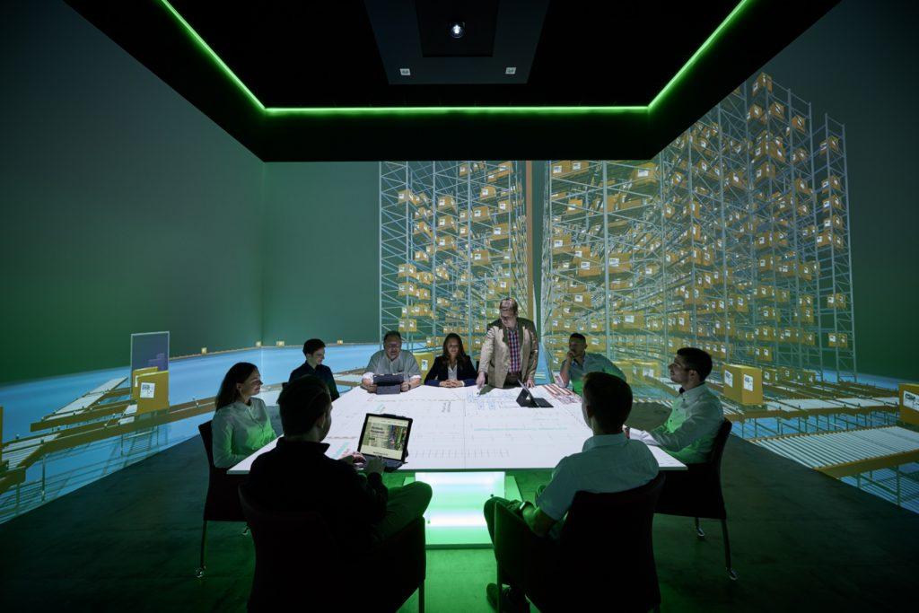 Im Holodeck der EPG können bis zu zwölf Personen in virtuelle Welten eintauchen. (Bild: Ehrhardt + Partner GmbH & Co. KG)