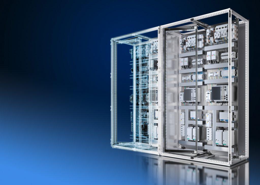 Durch maximale Datenqualität und Durchgängigkeit im Engineering schafft Rittal die Voraussetzungen für die Verschmelzung realer und virtueller Workflows - mit deutlichem Effizienzgewinn für Steuerungs- und Schaltanlagenbauer. (Bild: Rittal GmbH & Co. KG)