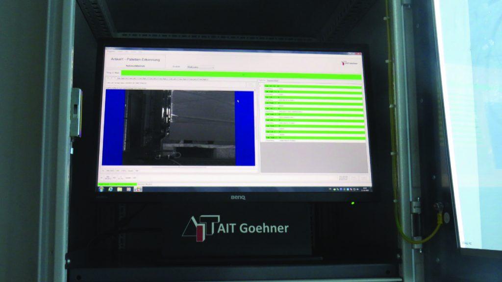 Sind alle durch den Scanvorgang erfassten Daten korrekt, wird die Palette an ihren entsprechenden Bestimmungsort befördert. (Bild: AIT Goehner GmbH)
