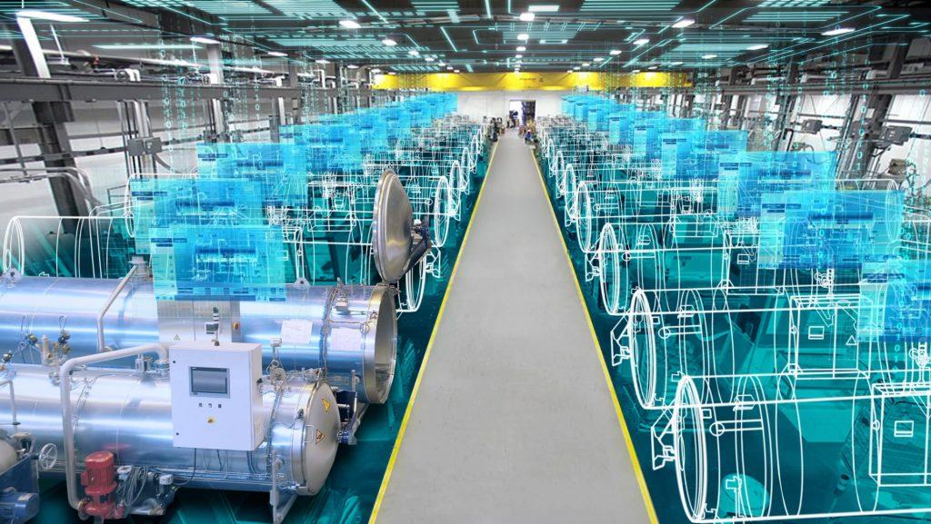 Die Kopplung von Anlagendaten mit Informationen der ERP-/MES-Ebene oder einer Cloudlösung eröffnet neue Möglichkeiten für Planung, Betrieb und Wartung. (Bild: Siemens AG)