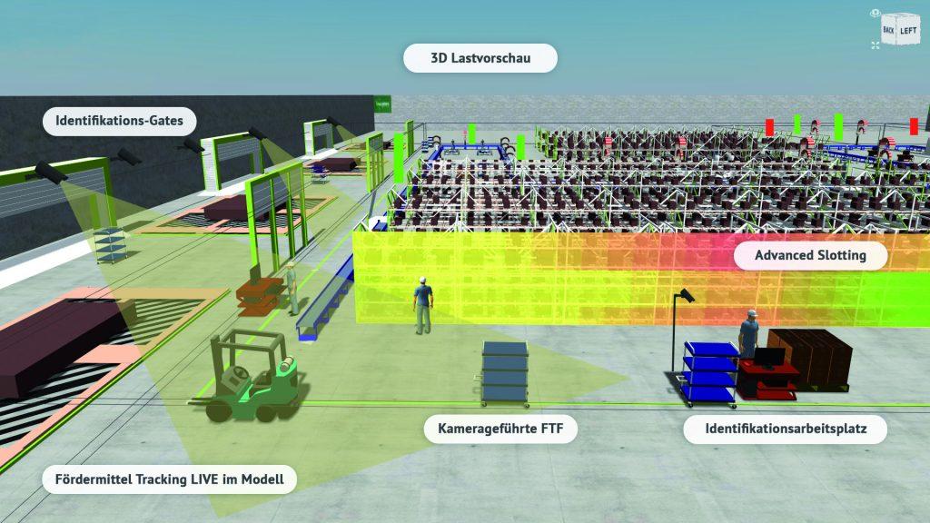 Das System bringt integrierte OpMit der Lösung sollen sich die Kosten für die FTS-Infrastruktur gegenüber herkömmlicher Technologie deutlich reduzieren lassen. (Bild: Logivations GmbH)timierungsalgorithmen zur Rundgangsung mit. (Bild: Logivations GmbH)