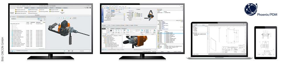 Bild: ORCON GmbH - Displays mit Phoenix/PDM