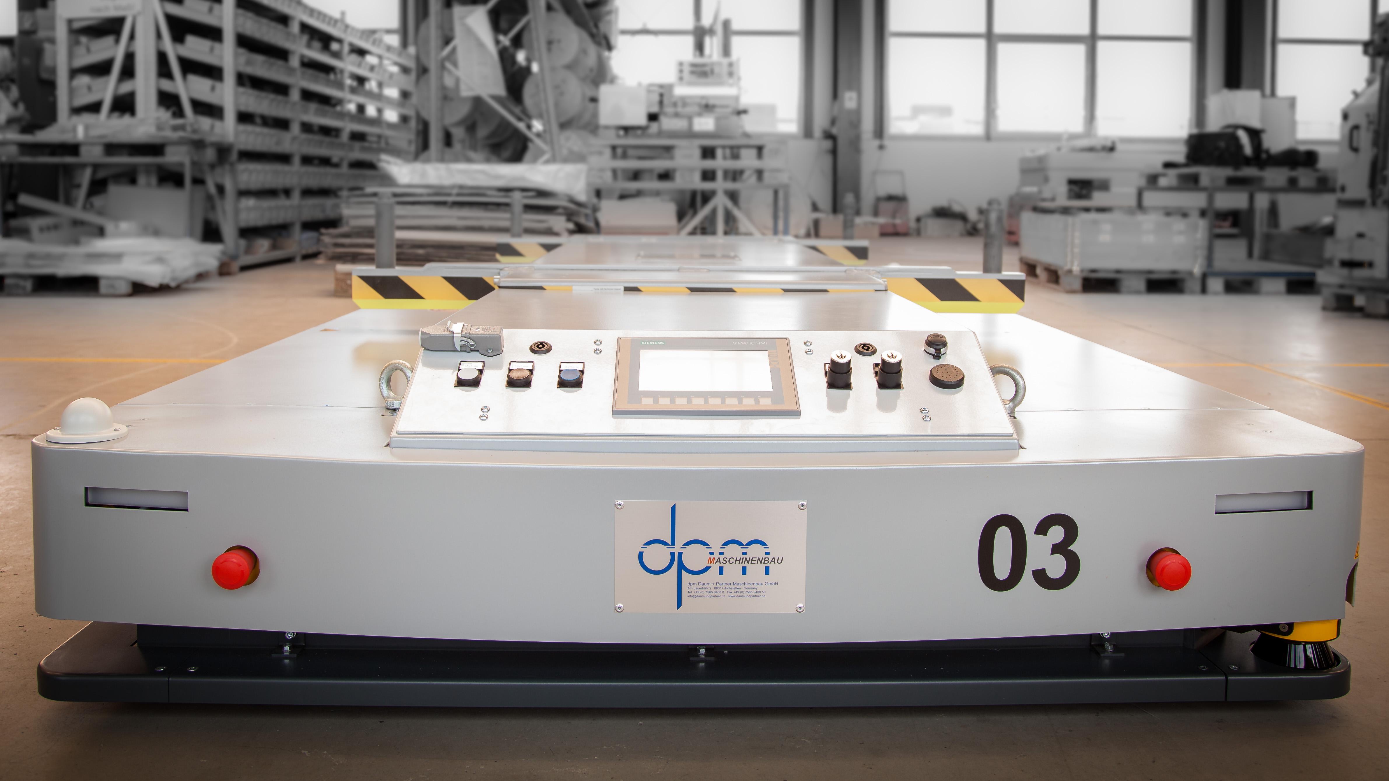 Über die sWave.net-Technologie werden FTS innerhalb kurzer Zeit aus dem Deep Sleep-Modus aufgeweckt. (Bild: Daum & Partner Maschinenbau GmbH)